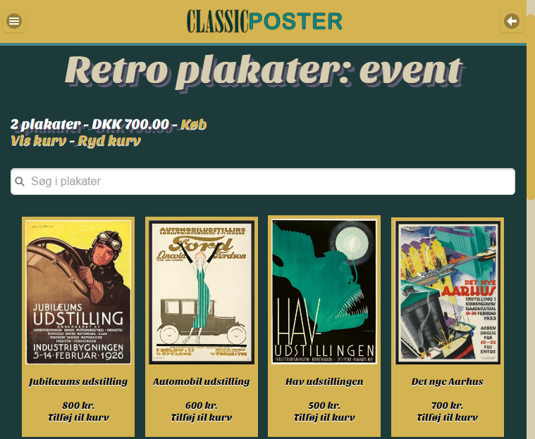 Classic Poster webshop